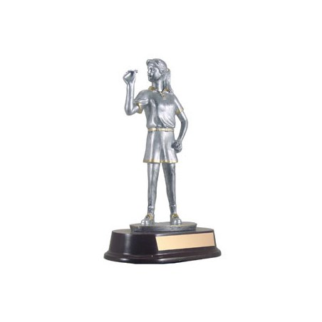 "9"" Female Resin Sculpture Dart Trophy"