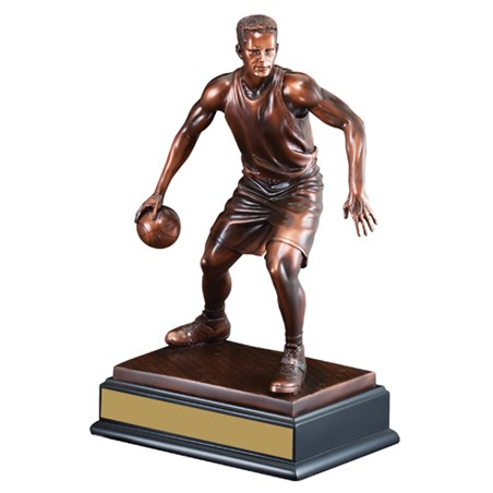 14 1/2 in Male Sculpture Basketball Trophy