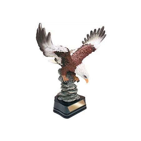 "11"" Hand Painted Eagle Resin"