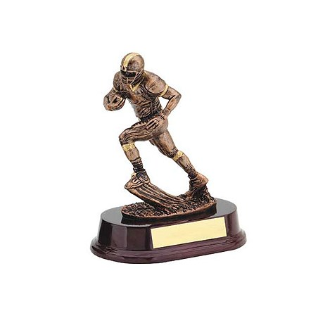 7 in Bronze Football Runner Resin