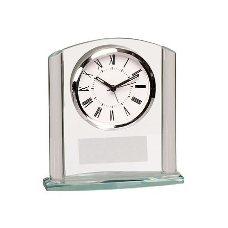 "6-1/8"" Arch Glass Desk Clock"