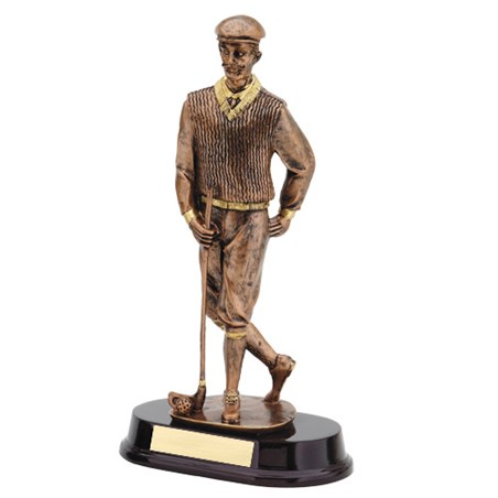 13 in Bronze Male Golf Resin