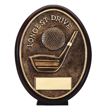 5.5 in Bronze Oval Golf Resin