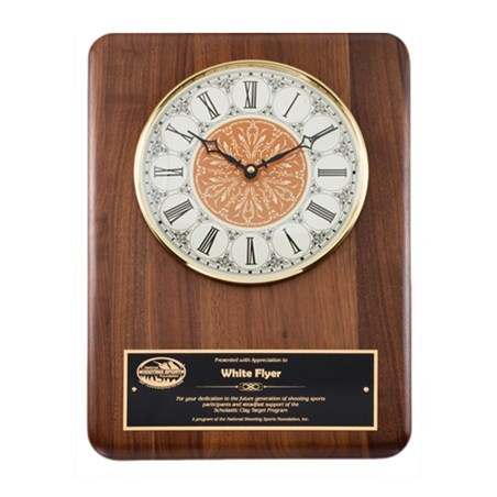 11 in x 15 in Genuine Walnut Clock Plaque
