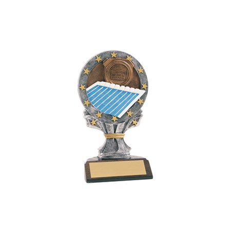 "6-1/4"" Full Color Swimming Trophy"