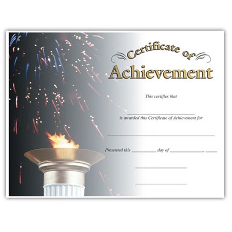 Achievement  (8-1/2 in x 11 in)