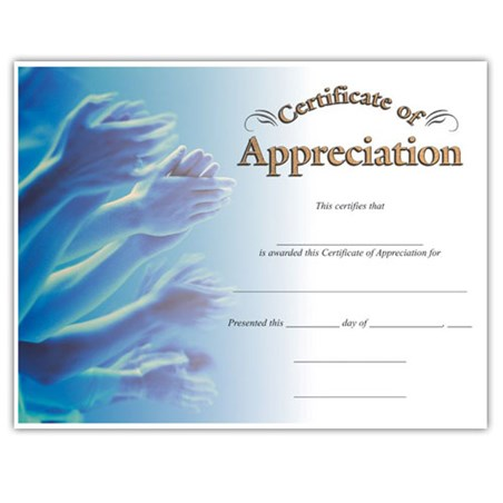 Appreciation (8-1/2 in x 11 in)