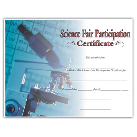 "Science Fair Participation (8-1/2"" x 11"")"