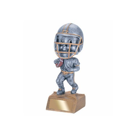 "5-3/4"" Football Bobble Head Trophy"