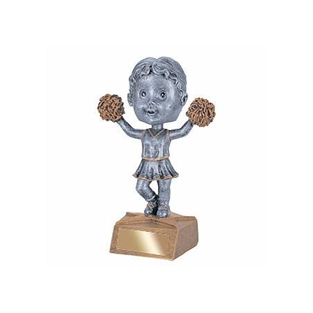"""5-3/4"""" Cheerleader Bobble Head Trophy"""