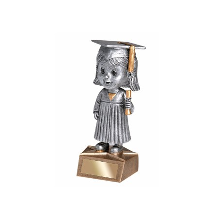 "5.75"" Graduate Bobble Head - Female"