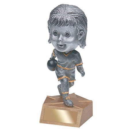 "6"" Bowling Bobble Head - Female"