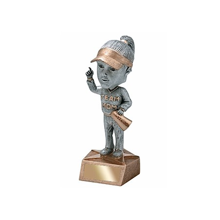 "6"" Team Mom Bobble Head Trophy"