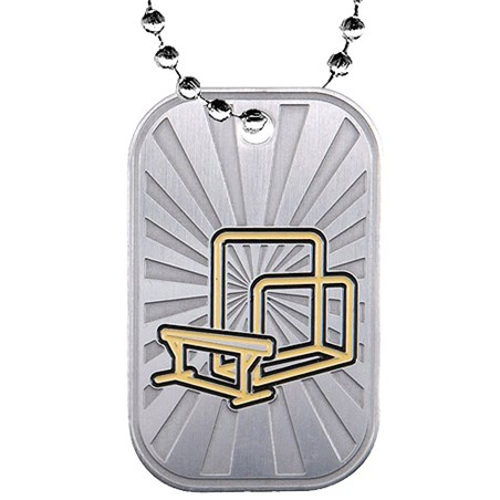 "2"" Gymnastics Dog Tag w/ Chain"