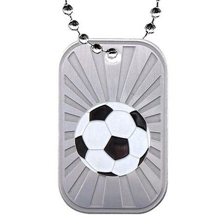 2 in Soccer Dog Tag w/ Chain