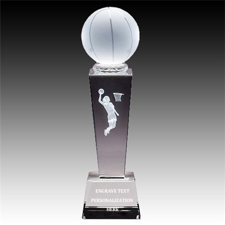 "8-3/4"" Female Basketball Sports Crystal"