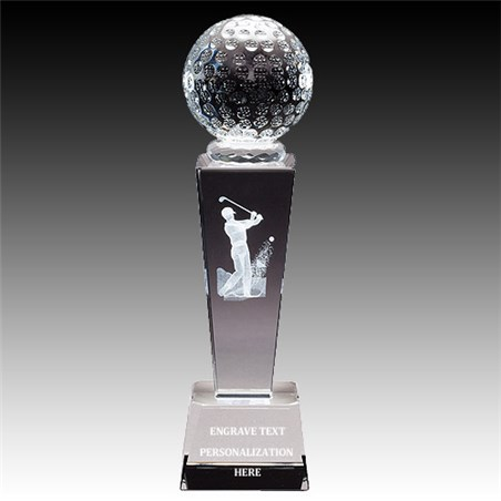8-3/4 in Male Golf Sports Crystal