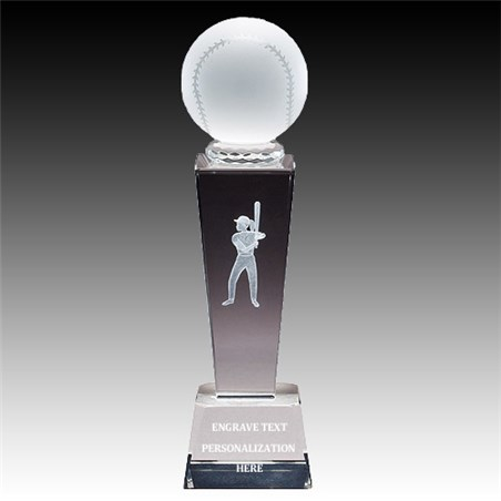 "8-3/4"" Female Softball Sports Crystal"