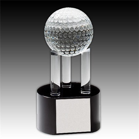 7-3/4 in Crystal Golf Ball Award