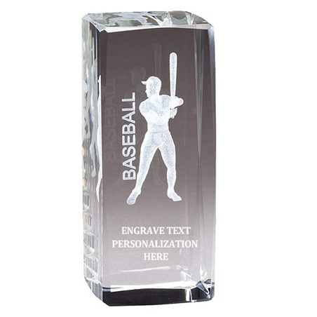 "4.5"" Baseball 3D Laser Sport Crystal"