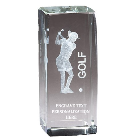 "4.5"" Golf Female 3D Laser Sport Crystal"