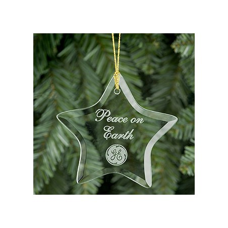 Star Shaped Glass Ornament