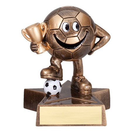 "4"" Tall Happy Soccer Trophy"