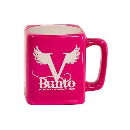 8 oz. Square Ceramic LaserMug - Pink