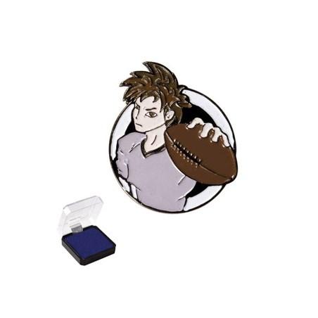 1 in Football Sports Pin
