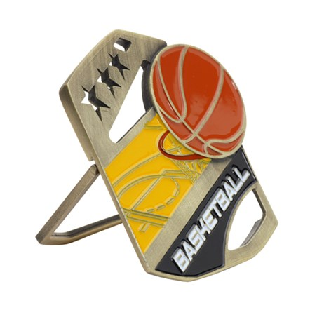 Color Pop Up Basketball Medal