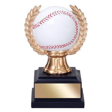"6"" Baseball Trophy with wreath"