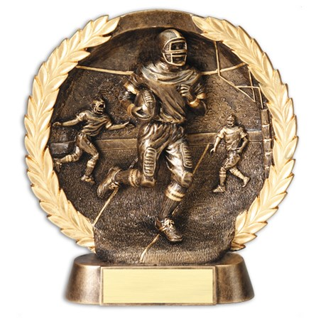 7 1/2 in Circular Football Trophy Plate