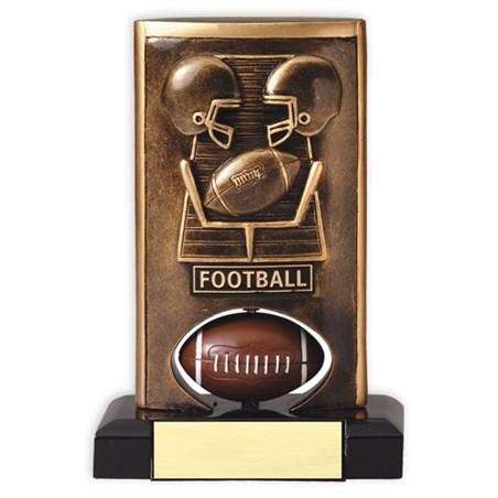 Spinning Resin Football Trophy