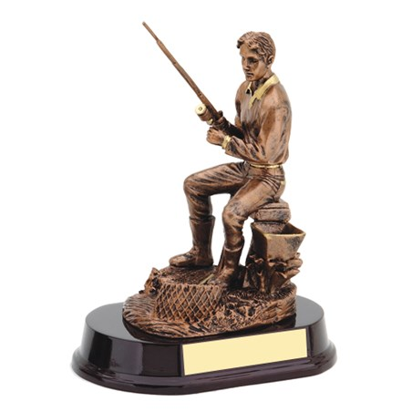 8 1/2 in Resin Fishing Trophy Sculpture