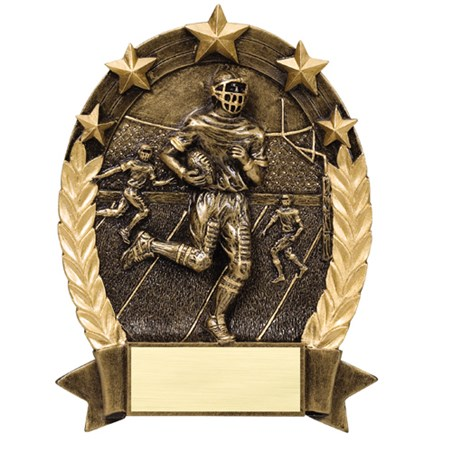 Football Star Resin Trophy