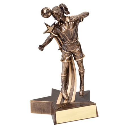"6-1/2"" Shooting Star Female Soccer Trophy"