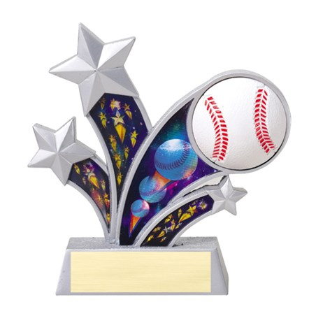 "6"" Rising Star Resin Baseball Trophy"