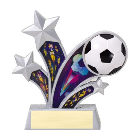 6 in Rising Star Resin Soccer Trophy