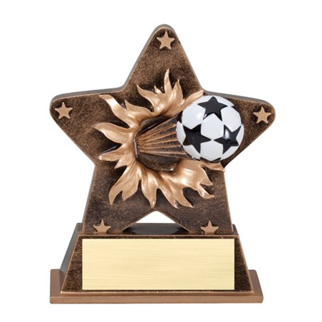 5 1/4 in Starburst Resin Soccer Trophy