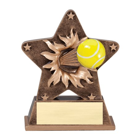 5 1/4 in Starburst Resin Tennis Trophy