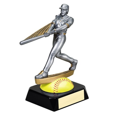 "7-1/2"" Motion Softball Trophy"