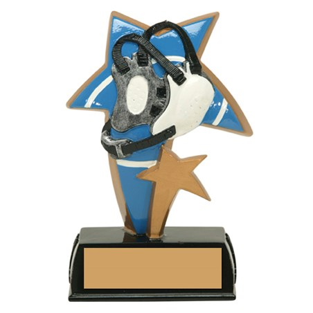 6 in Color Resin Sports Star Wrestling Trophy