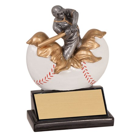 "5 1/4"" Xploding Resin Baseball Trophy"