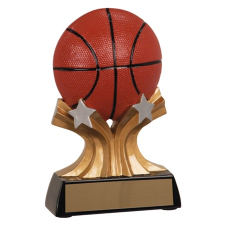 "5"" Shooting Star Resin Basketball Trophy"