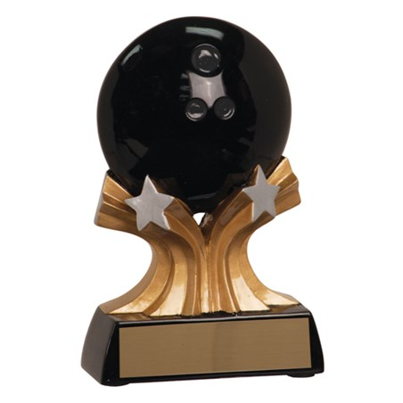 "5"" Shooting Star Resin Bowling Trophy"