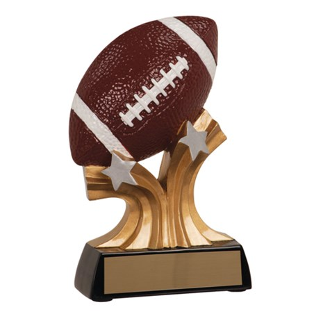 "5"" Shooting Star Resin Football Trophy"