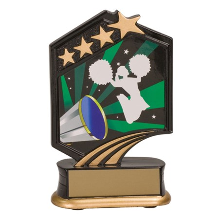"5 1/2"" Graphic Resin Cheerleading Trophy"