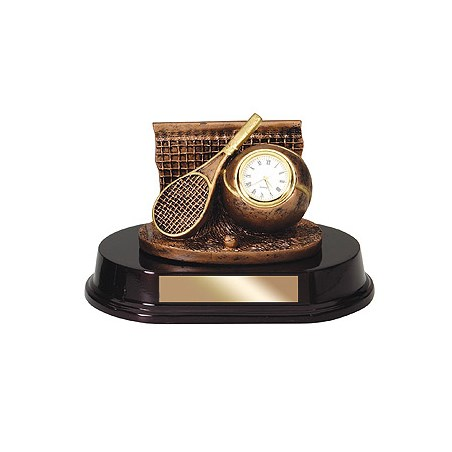 "5""  Bronze Sports Clock Resin"