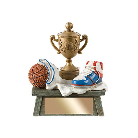 "4.25"" Vintage 3D Basketball Resin"