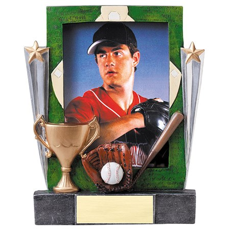 7-1/4 in Baseball Resin Photo Frame